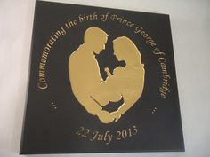 Commemorative Stone Plaques for Special Occasions and Openings Rustic Stone, Baby George, Time Capsule, Special Occasion, Royalty, Gift Ideas, Gifts, Art, Royals