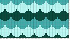 Tricksy Knitter Charts: scallops blue by heli-cat Tapestry Crochet Patterns, Fair Isle Knitting Patterns, Bead Loom Patterns, Knitting Charts, Knitting Stitches, Knitting Designs, Knitting Projects, Cross Stitch Patterns, Perle And Co