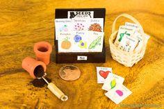 Fairy Gardening free miniature garden seed packet printables soooooo cute