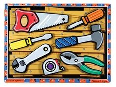 Amazon.com: Melissa & Doug Tools Wooden Chunky Puzzle: Toys & Games    Toddler? Preschool/VPK