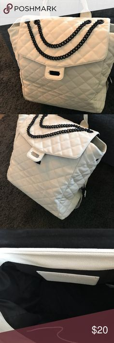Forever 21 Rolly quilted chain bag Rolly Quilted bag/ forever 21. Some flaws. Shown in pics. Needs love! Needs a repair by the latch in front and some spots, can be cleaned, just never tried. Not noticeable. Used less than a handful of times inside is in great condition. No tears or rips. Completely functional. Forever 21 Bags Travel Bags