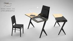 "Desk ""L'envol"" by Charlotte Marie, via Behance"