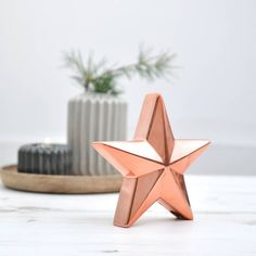 Ceramic Copper Star. From notonthehighstreet.com