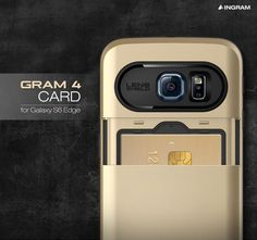 INGRAM Gram 4 Card Case is a new fashionable and practical case made for your Samsung Galaxy S6 Edge. The slim case features an impressive design and a card carrying compartment you can use when you don't want to carry your purse.
