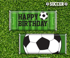 Soccer Party Candy Bar Wrappers Printable - Instant Download