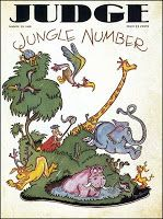 March 23, 1929 Judge (humor magazine) Dr. Seuss, illustrator (Theodor Seuss Geisel),  (his first national magazine cover)