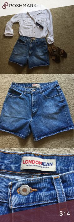 """""""LONDONJEAN"""" super-cute size 10/short, jean shorts These adorable blue jean shorts are perfectly cut to flatter your frame.  Comfortable and classic, pair these shorts with virtually any top for a great summer look.  Or for cooler days, toss on a big comfy sweatshirt, looking cute as can be.  These shorts are versatile and are a staple for any wardrobe!     (6/16-76) LONDONJEAN  Shorts Jean Shorts"""