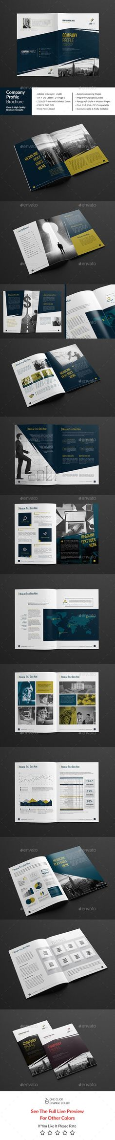 Company Profile - Square Company profile, Brochure template and - professional business profile template