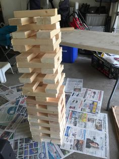 DIY giant Jenga Giant Jenga, Toys, Projects, Wood Games, Log Projects, Gaming, Games, Toy