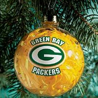Green Bay Packers Ornament #packers #cheesehead #christmas
