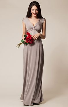 Clara Maternity Gown Long Mocha by Tiffany Rose ???????????? what about the color?