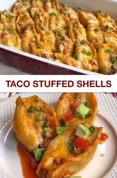 Looking for easy dinner ideas? This quick and easy dinner recipe is great for busy nights, and the entire family will love it! Including the kids. It's made with ground beef, pasta shells, sauce and lots of cheese! It's a unique and fun take on Mexican food. #easydinnerideas #tacostuffedshells #videos #instrupix #comfortfood