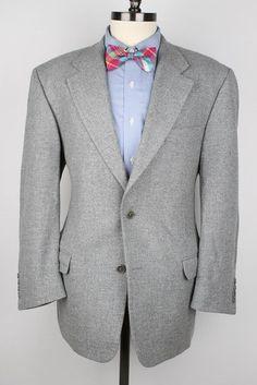 Mitchell's of Italy Lardini Grey Weave Wool 42 R mens Sport Coat Blazer #Mitchells #TwoButton