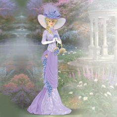 Thomas Kinkade Ladies & Angels | dimensions approx 7 height