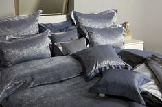 LAUREL Silk Bed Linen on www.pacificohome.ch Silk Bedding, Bed Linen, Home, Bed Ideas, Bed Linens, Bedding, Ad Home, Homes, Linens