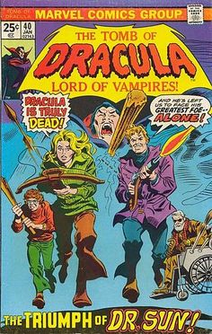 Tomb Of Dracula 40 Marvel Comics For Sale 1973 Sci Fi Comics, Old Comics, Horror Comics, Marvel Comic Books, Comic Book Characters, Vintage Comics, Comic Character, Caricature, Nostalgia