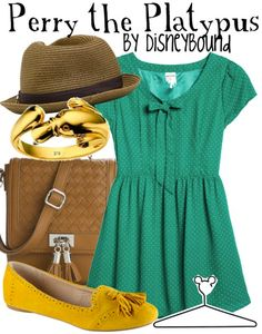 Disneybound Perry the Platypus from Phineas and Ferb