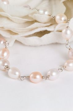 Silk Cloud – Pink Freshwater Pearl Necklace