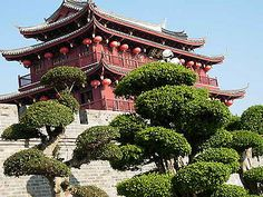"""Storeyed Building (Lou 楼) - When the Chinese speak of a Lou, they refer to any building of two or more storeys with a horizontal main ridge. The erection of such buildings began a long time ago in the Period of the Warring States (475-221 B. C. ), when Chonglou (""""layered houses"""") was mentioned in historical records."""
