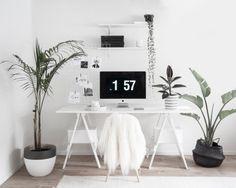 Home Office – Leden Design Workspace Inspiration, Room Inspiration, Home Office Design, Home Interior Design, White Office Decor, Office Interiors, New Room, Home Bedroom, Decoration