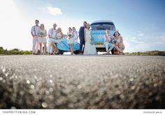 A Fun wedding car! | Photographer: Jani B