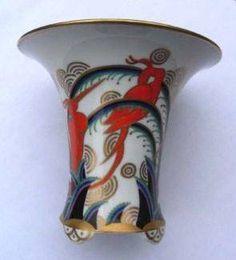 """Wendler Selb Bavaria Krater Vase. """"Indra"""" Decoration = Floral & Birds 12 cm  Photo from Ebay seller meiky_al"""