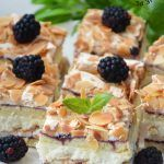 Pani Walewska (Ciasto Pychotka) Polish Desserts, Bread Cake, Homemade Cakes, Dessert Bars, No Bake Cake, Waffles, Sweet Tooth, Cheesecake, Food And Drink