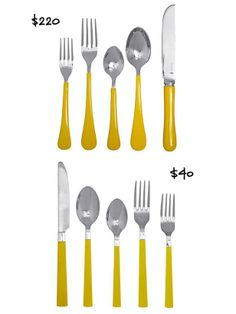 Cheerful Yellow Flatware High/Low