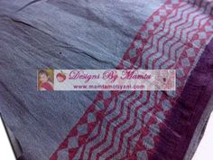 Bagh Print. Vegetable Dyes Fabric Ash Gray. Uses: Upholstery, Home Decor, Clothing. Price: $18