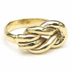 Odette Lovers Knot Ring: Recycled Brass