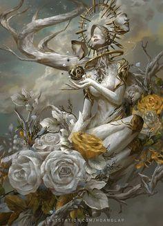 Fantasy Concept Art, Fantasy Character Design, Dark Fantasy Art, Fantasy Artwork, Character Design Inspiration, Dark Art, Character Art, Fantasy Girl, Fantasy Images