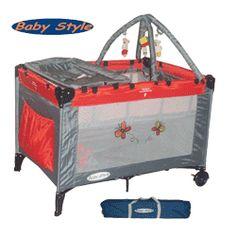 Ofertas e Promoções Incríveis.  Berço Mochila Com Trocador e Mobile Vermelho G210-02 - Baby Style Amazomstore
