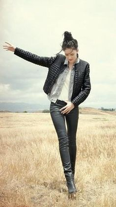 Leather is a big textile that I have seen everywhere. Leather jackets, pants, boots, sleeves on shirts and other accents on clothing, and even skirts and dresses. Leather is the it thing right now for fall. Haily R.
