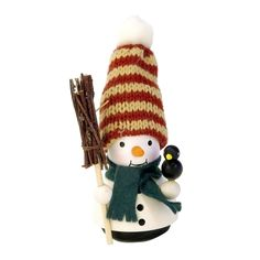 awesome Christian Ulbricht Ornament Snowman (No String)Alexander Taron Holiday Decoration Gift Accessories Christian Ulbricht Ornament Snowman (No String) 4.25H x 2W x 2D
