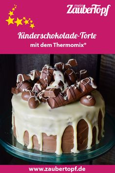 Kinderschokolade Torte – recipe for the Thermomix®️️ – we have for you the perfect cake for every children's birthday. This chocolate vieeel drip cake is definitely one of Thermomix®️️'s best cakes ever since kids chocolate! Drip Cake Recipes, Donut Recipes, Cupcake Recipes, Gourmet Recipes, Drip Cakes, Kids Chocolate Cake, Best Cake Ever, Torte Recipe, Baking With Kids