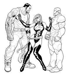 Ares, Ms. Marvel & Iron Man - Frank Cho
