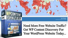 Need More Free Website Traffic -  Best Free WordPress Plugin - WP Content Discovery - https://www.wpcontentdiscovery.com  #wordpress #wordpressplugin #wordpressplugins #freewordpressplugins