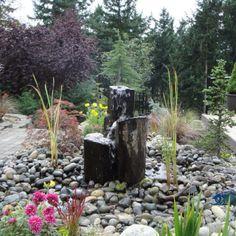 Our backyard garden water feature.