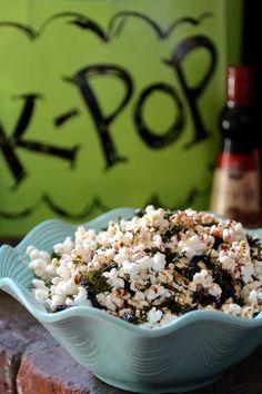 K-POP {Korean Popcorn} Fresh Popped Corn, Sesame Oil, Gochugaru, Sesame Seeds, Roasted Sea Salt, Seasoned Seaweed #giveaway