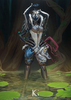 Saryn Prime by Kevin-Glint on DeviantArt Character Concept, Character Art, Concept Art, Character Design, Warframe Wallpaper, Warframe Art, Ebook Cover Design, Darkest Dungeon, Sci Fi Armor