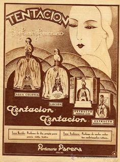 TENTACION 1930 #PERFUME HOJA REVISTA (Papel - Varios) #VintageAdvertising> #Luxurydotcom