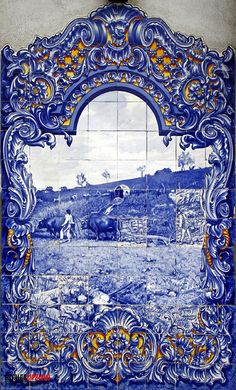 Blue Pottery, Portuguese Tiles, Blue Tiles, Home Decor Furniture, Ceramic Art, City Photo, Antiques, Gallery, Drawings