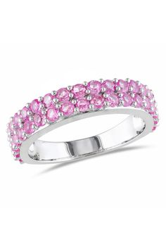 Pink Sapphire Ring In Silver. need to add this to my Bling Ring List. Bling Bling, Saphir Rose, Mode Rose, Pink Sapphire Ring, Love Ring, Eternity Ring, Solitaire Ring, Schmuck Design, I Love Jewelry