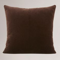 Chocolate Brown Velvet Throw Pillow at World Market sq.