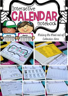 Interactive Calendar Notebooks! Like some ideas and printables here for tracking days and weather.