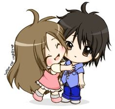 cute chibi couples hugging - Google Search