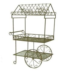 sweet garden carts home depot. Large metal work Flower Cart  makes my girlie heart happy Beautiful large iron paris flower cart planter with roof in antique