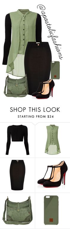"""Apostolic Fashions #1320"" by apostolicfashions on Polyvore featuring Cushnie Et Ochs, River Island, Christian Louboutin, Frye and Native Union"