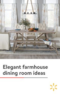 The farmhouse trend is here to stay. Rustic, wooden furniture, statement fixtures and a soothing neutral palette make this design style an easy fit for almost any home. Discover more dining room ideas…More Design Blogs, Home Design, Interior Design, Design Ideas, Modern Interior, Home Living Room, Living Room Decor, Best Kitchen Design, Dining Room Design