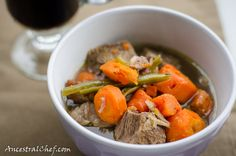 This is a delicious beef bourguignon dish that's easy to make for dinner any night! If you don't know what beef bourguignon is, it's just a beef stew with